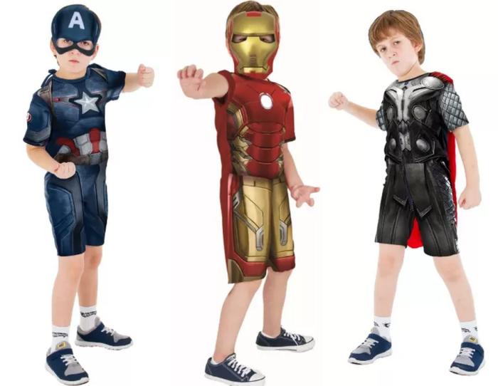 A Rubie's Brasil traz ao país as fantasias de Capitão América, Homem de Ferro e Thor, do filme Os VIngadores. Preço não divulgado.