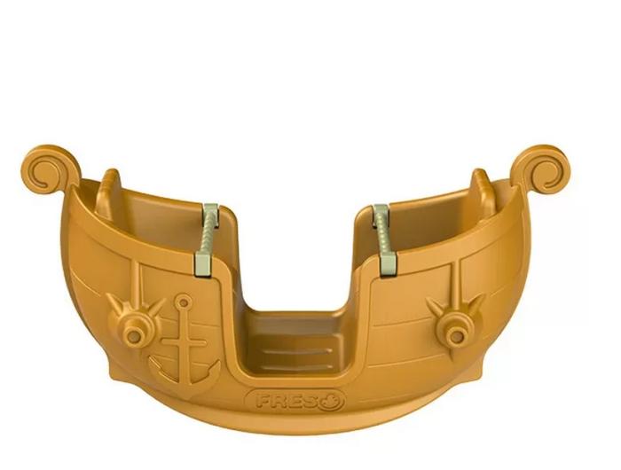 Gangorra Viking, de plástico, com 4 lugares, da Freso Playgrounds. A partir de 2 anos. Preço não divulgado.